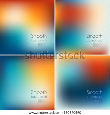 Smooth vintage backgrounds collection - eps10 - stock vector