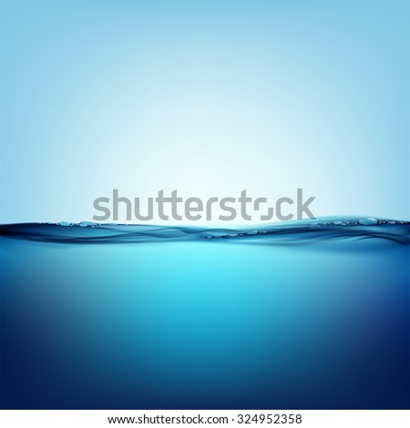Smooth water surface. Natural background. Stock vector image. - stock vector