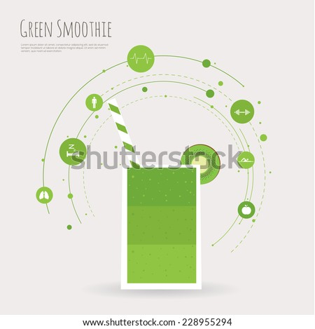 smoothie infographic - stock vector