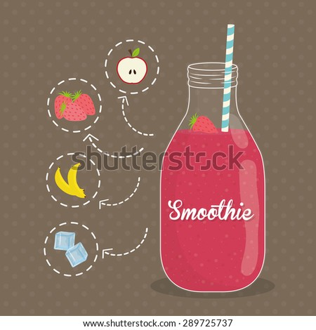 Smoothies digital design, vector illustration eps 10.