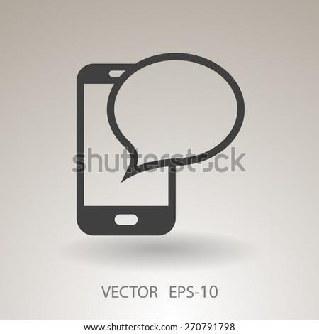 sms icon - stock vector