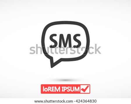 SMS icon, SMS icon eps 10, SMS icon vector, SMS icon illustration, SMS icon jpg, SMS icon picture, SMS icon flat, SMS icon design, SMS icon web, SMS icon art, SMS icon JPG, SMS icon image - stock vector
