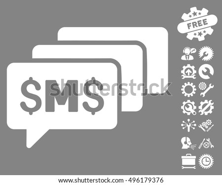 Sms Messages Icon Bonus Tools Pictures Stock Vector 496179376