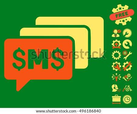 Sms Messages Icon Bonus Tools Symbols Stock Vector 496186840