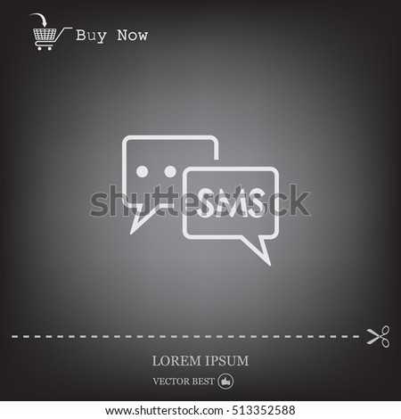 SMS sign icon