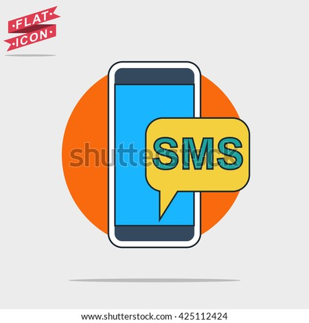 sms smartphone icon