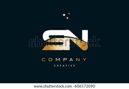 Sn S N White Yellow Gold Stock Vector 2018 606572090 Shutterstock