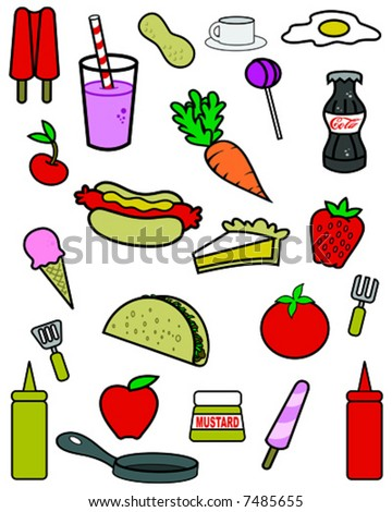 snack food group - stock vector