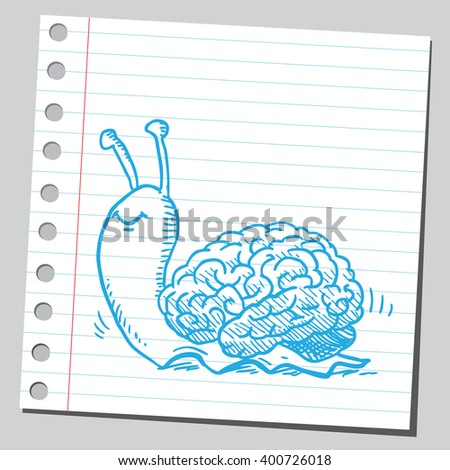 Snail brain - stock vector