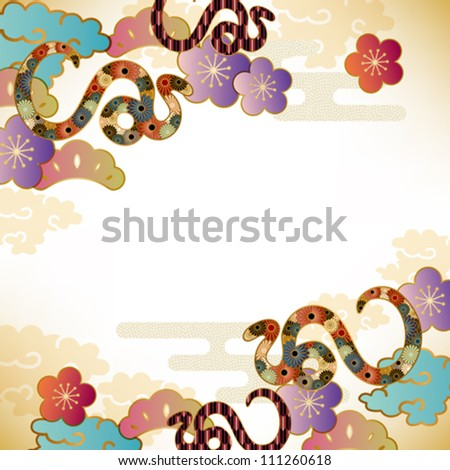 snake background - stock vector