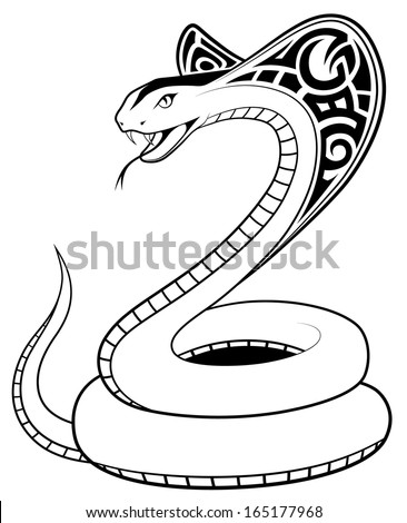 Snake, Cobra in the form of a tatto? - stock vector