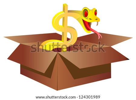 snake box stock vector 124301989 shutterstock