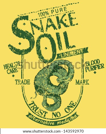 Snake oil - stock vector