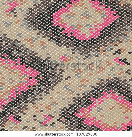 snake pattern - stock vector