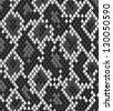 Snake reptile or crocodile skin seamless pattern in shades of grey, vector - stock vector