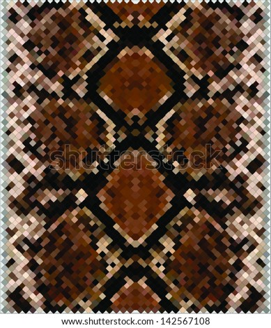 Snake skin,leather,texture. - stock vector
