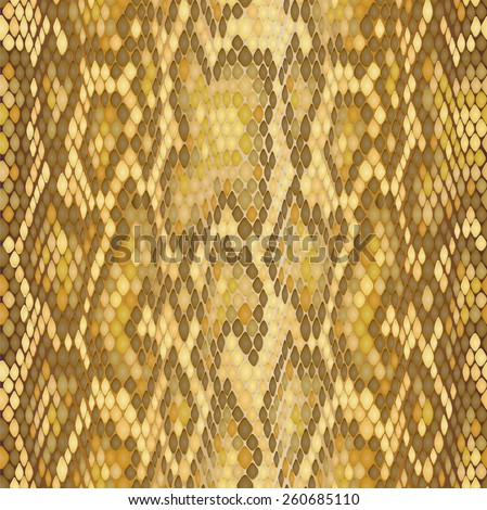 Snake skin seamless vector  pattern. Reptile seamless  texture. Animal print. Can be used for fabrics, wallpapers, scrap-booking, ornamental template for design and decoration, etc - stock vector