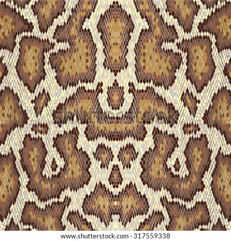 Snake skin seamless vector pattern. Reptile seamless texture. Animal print. Can be used for fabrics, wallpapers, scrap-booking, ornamental template for design and decoration, etc