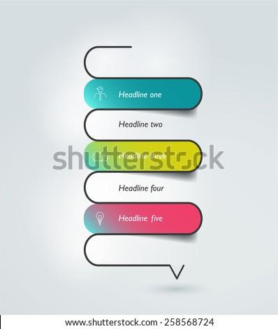 Snake speech bubble template. Infographics elements. - stock vector