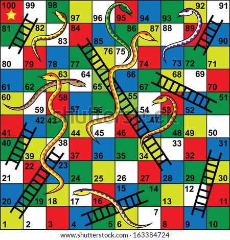 Snakes and ladders stock images royalty free images for Snakes and ladders printable template