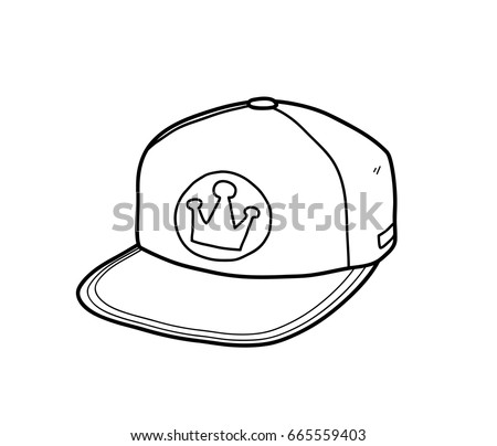 how to draw a snapback on a head
