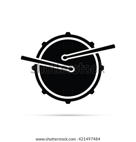 Snare Drum Icon - stock vector