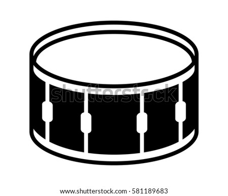 Snare Drum Or Side Musical Instrument Flat Vector Icon For Music Apps And Websites