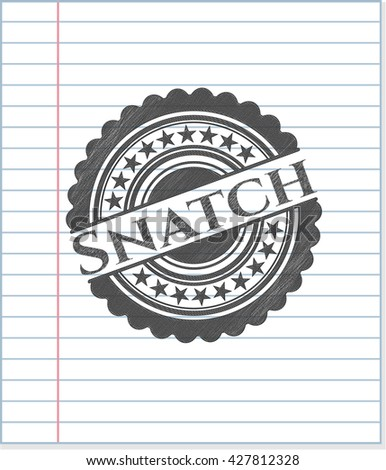 Snatch emblem draw with pencil effect