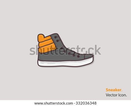 Sneaker Icon / Sneaker Icon Object / Sneaker Icon Picture / Sneaker Icon Image / Sneaker Icon Graphic / Sneaker Icon Art / Sneaker Icon JPG / Sneaker Icon JPEG / Sneaker EPS / Sneaker AI - stock vector