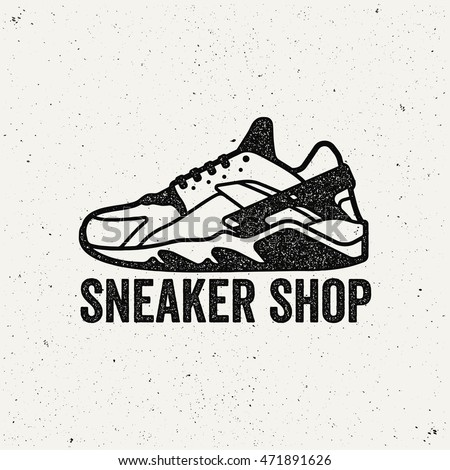 sneaker shop logo shoes sign