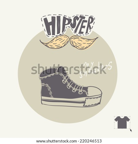 Sneakers Fashion Background, Eps 10 Vector Illustration