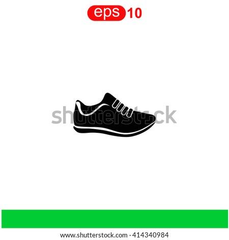 Sneakers icon. - stock vector