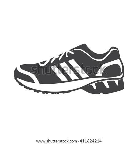 Sneakers icon Vector Illustration on the white background. - stock vector
