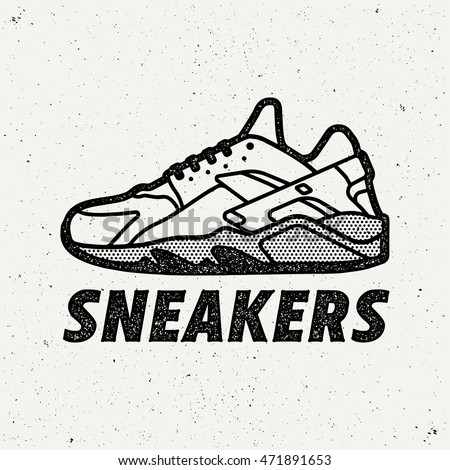 sneakers logo shoes sign