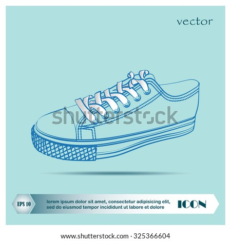 Sneakers, vector - stock vector