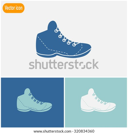 Sneakers vector icon.