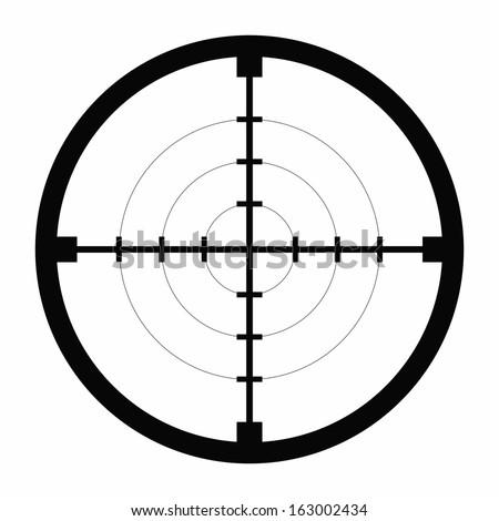 sniper black finder target illustration bull eye - stock vector