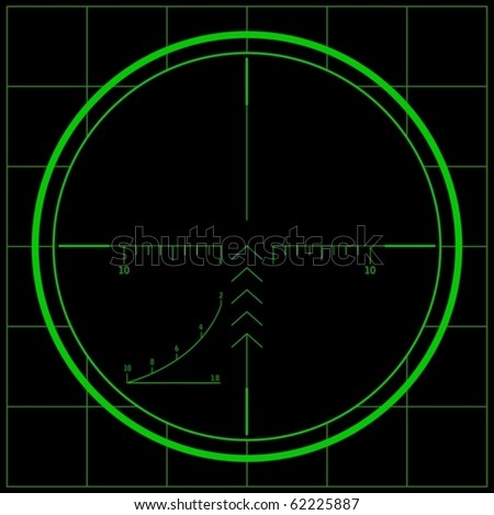 Sniper scope (vector) - stock vector