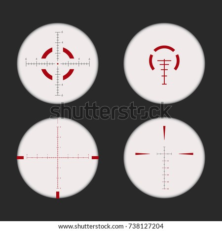 Vector Rifle Scope Sight Transparency Stock Vector