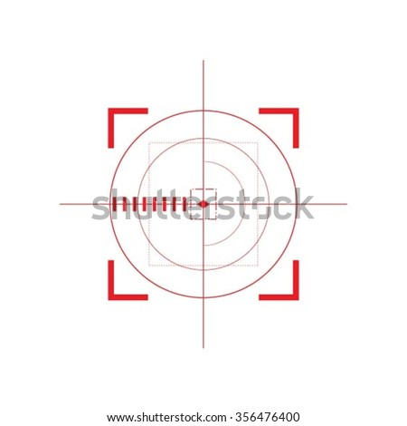 Sniper target scope or sight, isolated on white background. - stock vector