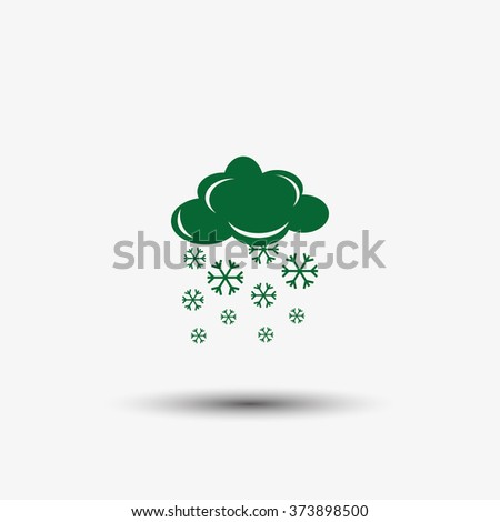 snow and cloud icon - stock vector