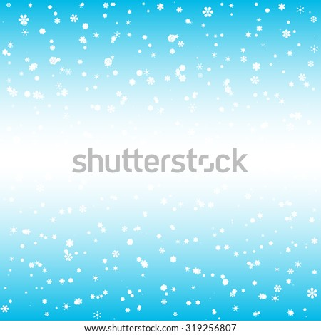 snow and snowflakes - gradient background