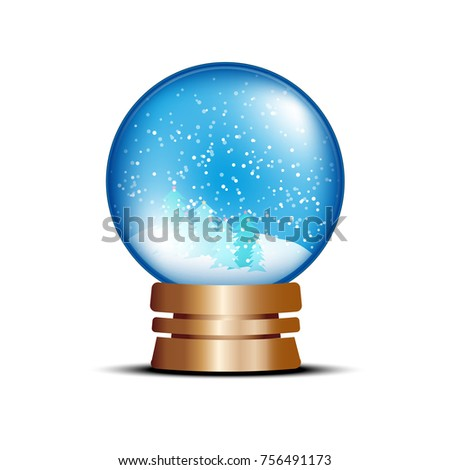 snow ball winter vector nature white christmas gift seasonal