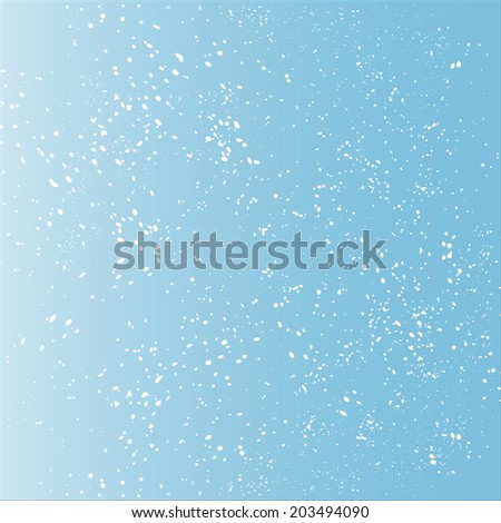 snow, blue background - stock vector