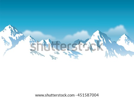 snow-capped mountains - background  - stock vector