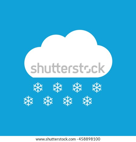 Snow cloud winter icon. Weather forecast. Blue background - stock vector