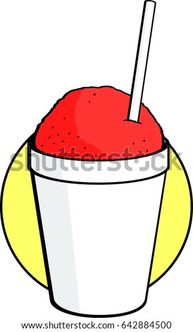 snow cone disposable cup drinking straw stock vector 642884500 rh shutterstock com  snow cone clipart