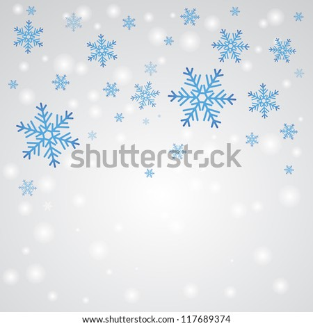 Snow fall. Winter background. - stock vector