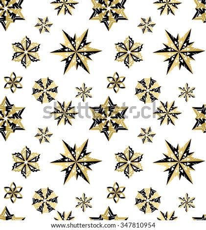 Snow flakes christmas winter background seamless texture pattern wrapping paper