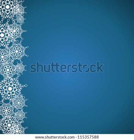 snow flakes. snow flakes concept - stock vector